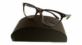 Prada Women's Brown Havana Glasses with case VPR 14R TKT-1O1 52mm - $185.99