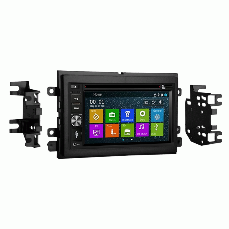 Bluetooth In Dash GPS Navigation DVD CD Player Stereo Radio Unit for Ford F150