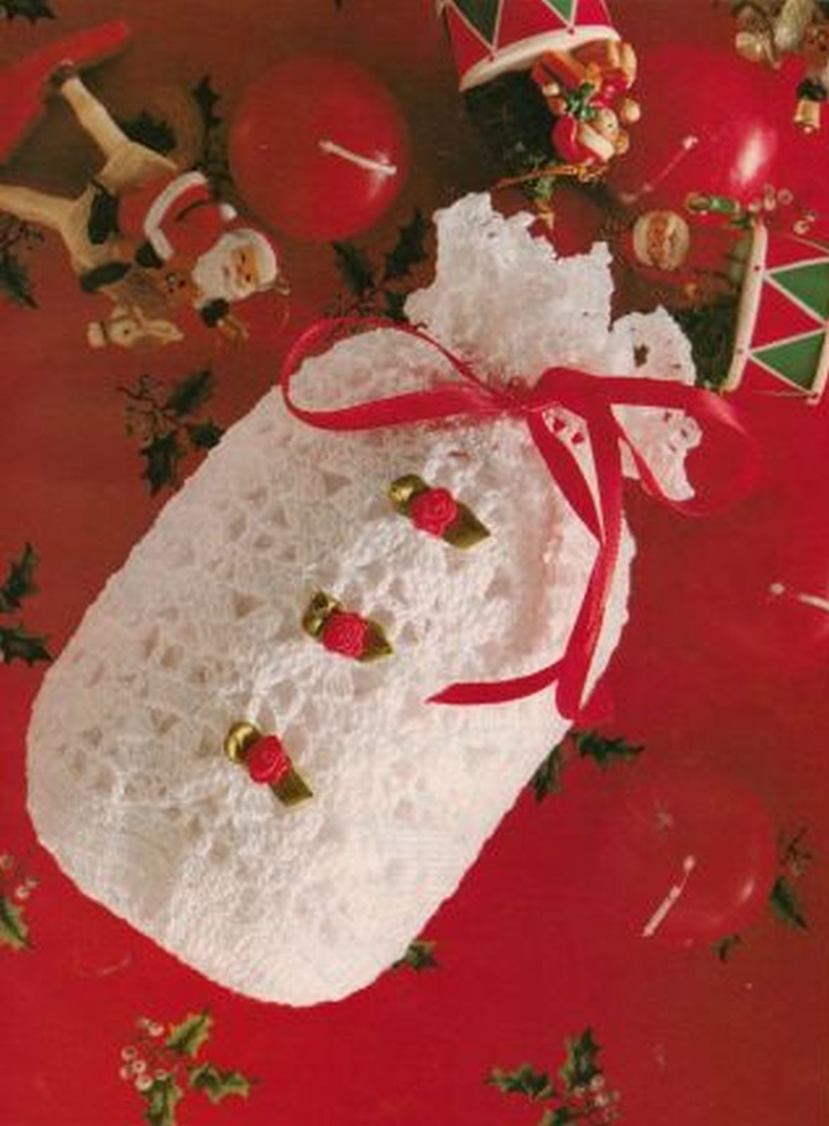 5X Christmas Stars Ornament Egg Warmers Goodie Bag Runner Irish Crochet Pattern
