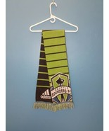 Adidas Seattle Sounders Scarf acrylic green and grey with fringe Space N... - $14.84