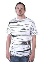 Tavik USA Fatto Bianco Uomo Egiziano Faraoni Mummia Sguardo Occhi T-Shirt Nwt