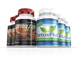 Hiprolean X-S Caffeine Free Fat Burner Cleanse Combo Pack 3 Month Supply - $194.99