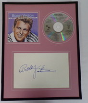 Bobby Vinton Signed Framed 11x14 Most Requested Songs CD & Photo Display - $58.54