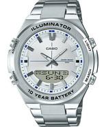 Casio - AMW-860D-7AVCF - Quartz Stainless-Steel Strap Men's Watch - Silver - $98.95
