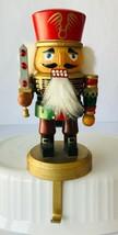 """Kurt Adler 7"""" Chubby Nutcracker Christmas Stocking Holder Soldier with Sword - $15.71"""