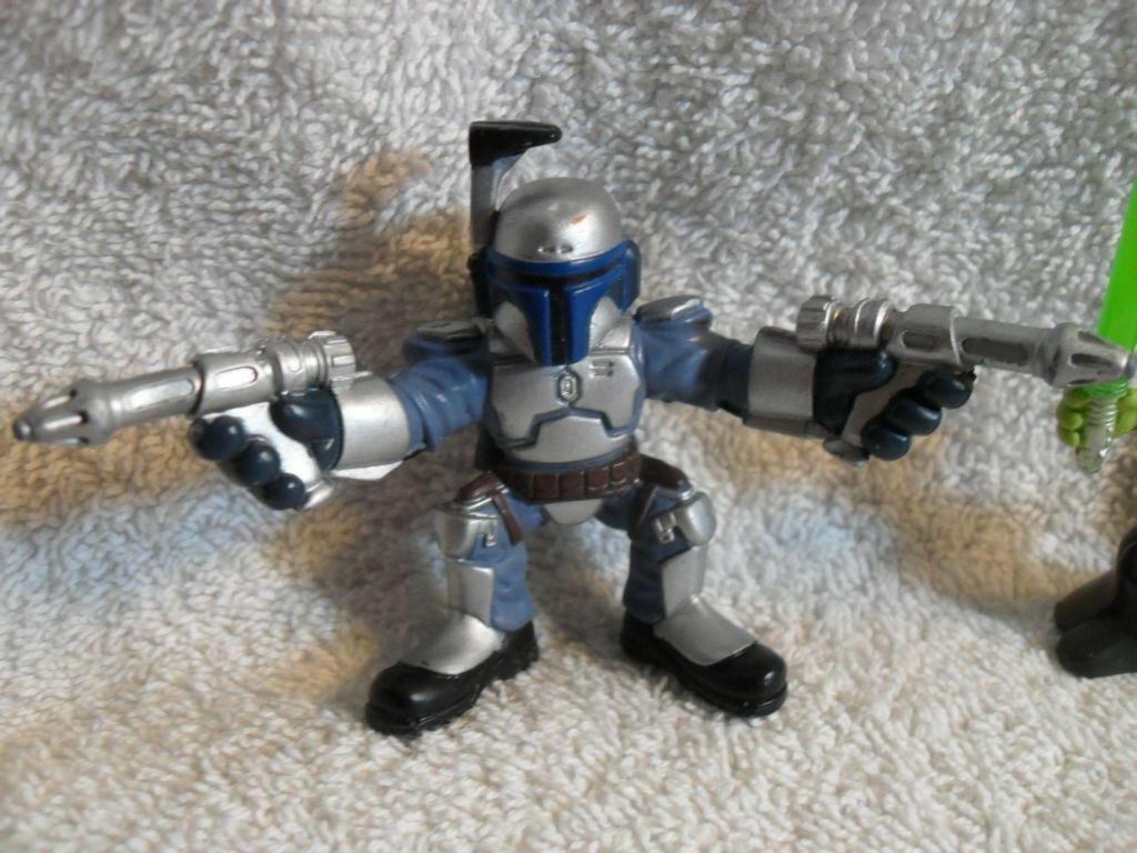 Lot Of 6 - Star Wars GALACTIC HEROES Mini Figures 2001 Hasbro Boba Luke