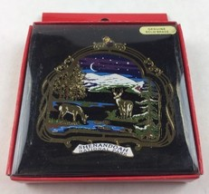 Nations Treasures Shenandoah National Park Painted Brass Metal Souvenir Ornament - $15.00