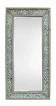 Sand Rice Art Shadow Box Leaner Mounted Wall Mirror Leaner - $659.50