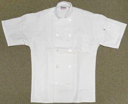 Chef Jacket L Uncommon Threads 415 White Short Sleeve Coat Uniform Unisex New image 4