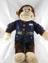 "Monkey in Marine Corp Jacket Chimpanzee 18"" tall in Military Build A Bear BAB - $14.84"