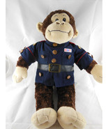 "Monkey in Marine Corp Jacket Chimpanzee 18"" tall in Military Build A Bea... - $14.84"