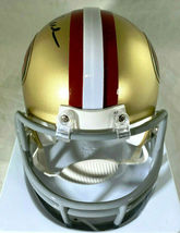 JERRY RICE / NFL H.O.F / AUTOGRAPHED SAN FRANCISCO 49ERS MINI HELMET / RICE HOLO image 4
