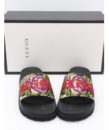 NIB Gucci Pursuit Treck Floral Jacquard Blind for Love Slide Sandals 7US... - $250.00