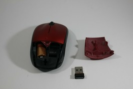 Logitech M215 RED Wireless USB Optical Scroll Mouse NANO UNIFY Receiver Laptop - $14.80