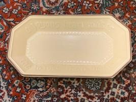 Pfaltzgraff Village 528 Bread Plate Platter Tray A Joyous Heart Stoneware Ln - $22.46