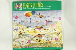 Great American Puzzle Factory Flights Of Fancy Aircraft Aviation 550 Pc Complete - $14.03