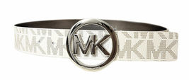 Michael Kors Women's Signature Reversible Circle MK Logo Belt 551342 image 9