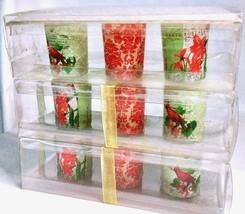 Floral Votive Tea Light Candle Holder & Tray Set of 3 - Cardinal Flower ... - $18.67