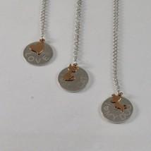 Collar de Plata 925 Jack&co con el Corazón Perro o Gato de Oro Rosa 9KT ... - $98.40