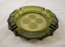 "Fostoria Coin Emerald Green Large 8"" Ashtray - $47.49"