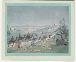 Vintage Christmas Card The Three Wise Men Marian Heath - $6.92