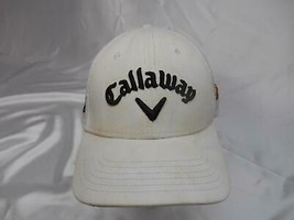 Old Vtg Callaway Embroidered Golf Sports Cap Hat Tour Authentic Advertising - $19.79