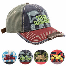 True Religion Men's Premium Cotton Vintage Distressed Trucker Hat Cap TR1690