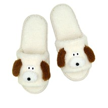 Brunch Brother Woman Home Slippers US Size 6.5 to 9 Free Size (Puppy)