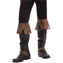 Adult Black and Brown Simulated Leather Medieval Renaissance Costume Boo... - $13.08