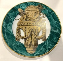 Fitz and Floyd Consoles III Decorative Plate Green Marble Design - $23.75