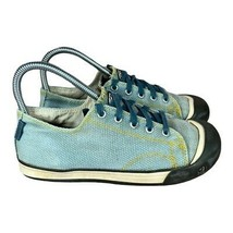KEEN Unisex Kids Coronado Sneaker Blue Canvas Round Toe Low Top Lace Up 4 - $32.89