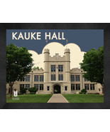 """The College of Wooster """"Kauke Hall"""" 13x16 Art Deco Framed Print  - $39.95"""