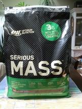 Optimum Nutrition Serious Mass Protein Powder, Chocolate, 50g Protein, 12lb - $35.64