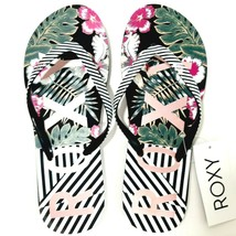 New Roxy Simba Love V Women's Flip Flop Thong Sandals Multicolor Striped... - $17.81