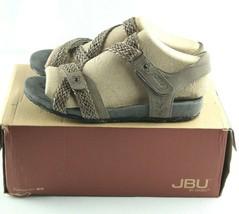 Jambu JBU Loreta Sandals Womens Sz 6 Tan Braided Vegan Leather Slingback... - $36.00