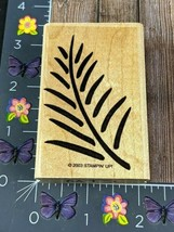 Stampin Up Pine Branch Leaves Rubber Stamp Tropical Leaf 2003 Drawn #I150 - $4.46
