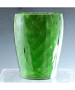 Cambridge Glass Number 1446 Green Vase Dart and Optic - $53.20