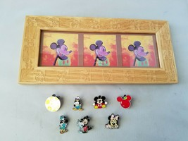 Disney Mickey Mouse Picture Frame Holds 3 Photos + Collectible Trading Pins - $32.54