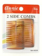 ANNIE SIDE HAIR COMBS - BROWN - 2 PCS. (3206B) - $6.99