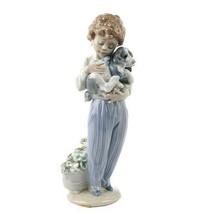"""Lladro #7609 """" Mon Buddy Figurine,Jeune Garçon Avec / Chien de Collection - $177.07"""