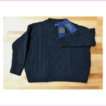 $65.00 Ralph Lauren Little Girls Cable-Knit Sweater Polo Black  Size 6X - $29.70