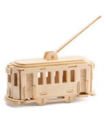 Trolley Bus 3D Wooden Puzzle DIY 3 Dimensional Wood Build It Yourself Pr... - $6.99