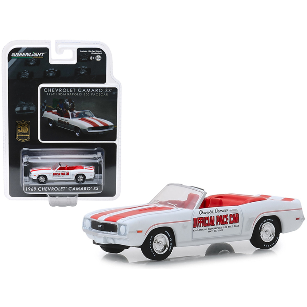 1969 Chevrolet Camaro SS Convertible Pace Car White with Red Stripes Mario Andre