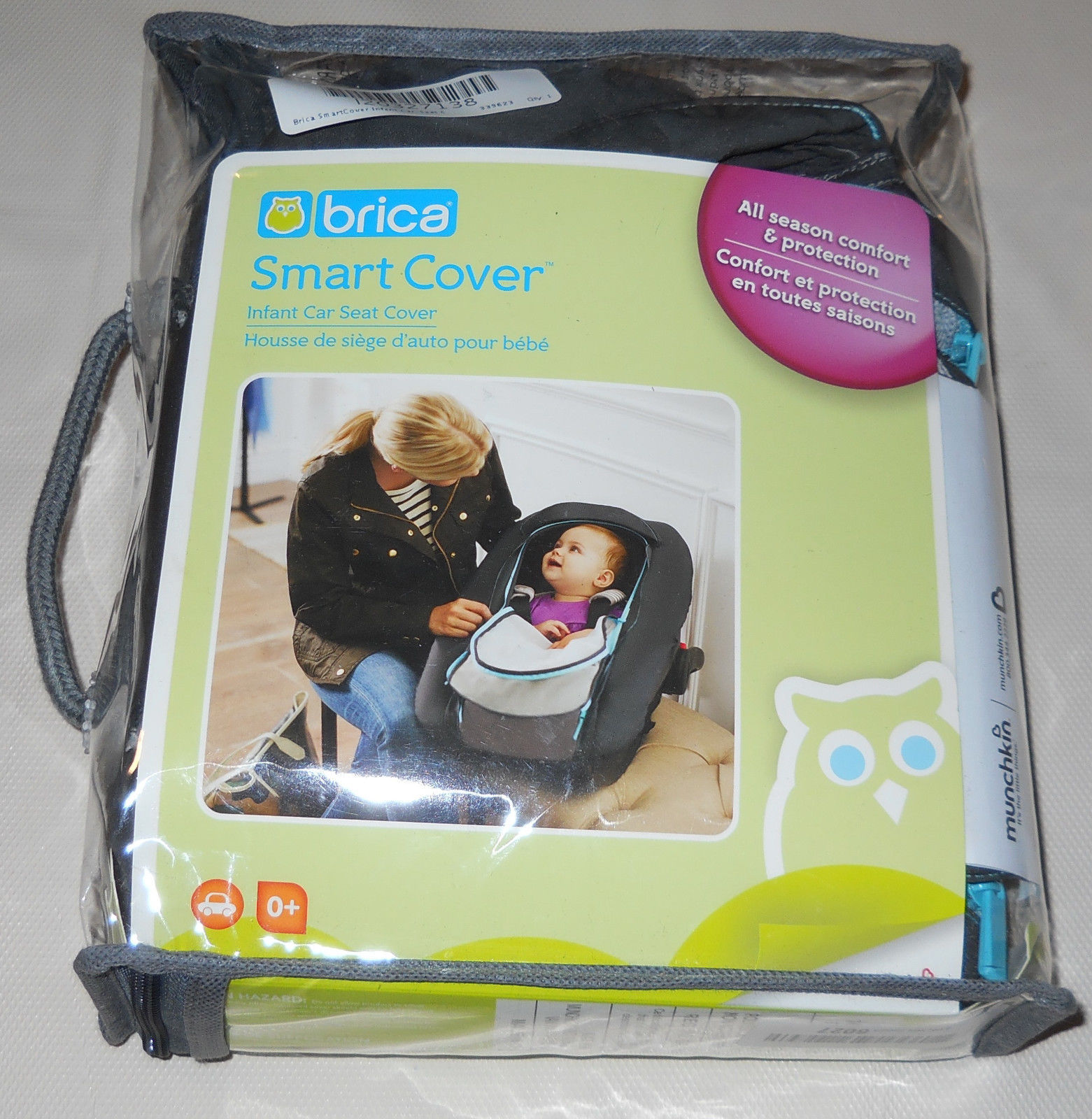 Brica SmartCover Infant Car Seat Cover NEW