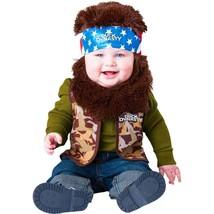 Duck Dynasty Baby Infant Costume Willie Brown Beard & Bandana - Infant Medium - $11.83