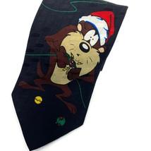 Looney Tunes Mania Daffy Duck Taz Christmas Silk Tie Necktie - $11.84