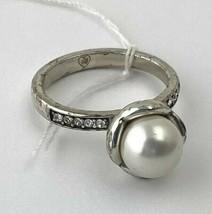 Brighton Pearl Flower Ring J61232 Silver Finish, Swarovski Pearl, Size 7 New - $42.74