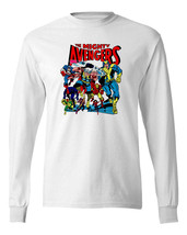 Mighty Avengers Long Sleeve T-shirt Silver Age comics 100% cotton graphic tee image 2