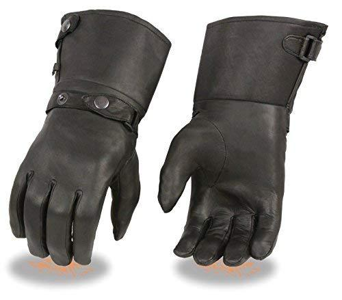 Primary image for Shaf Motorcycle Men's Ultra Long Leather Guantlet Leather Gloves Lined Big size