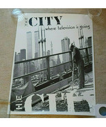 """The City TV Show Poster 1994 Time Warner Cable NYC 18"""" x 24"""" Black & Whi... - $18.00"""